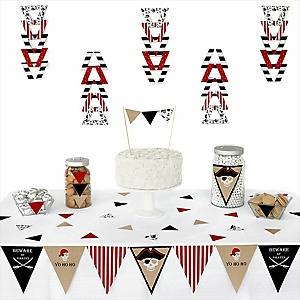 Beware of Pirates -  Triangle Birthday Party Decoration Kit - 72 Piece