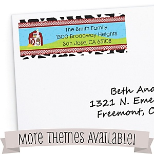 Birthday Party Return Address Labels