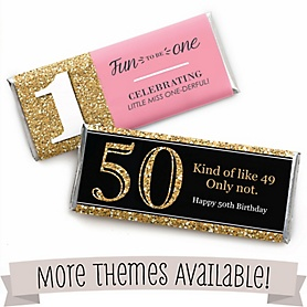 Birthday Party Personalized Candy Bar Wrappers