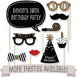 Personalized Birthday Party Photo Booth Prop Kits