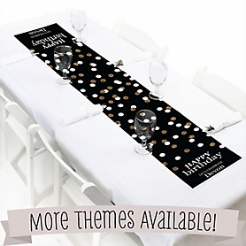 Personalized Birthday Party Table Runners