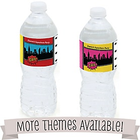 Birthday Party Personalized Water Bottle Labels