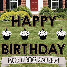 Birthday Party Yard Sign - Lawn Ornament Decorations