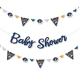 Blast Off to Outer Space - Rocket Ship Baby Shower Letter Banner Decoration - 36 Banner Cutouts and Baby Shower Banner Letters