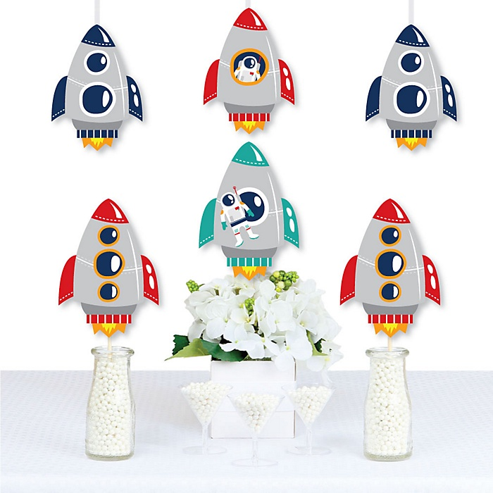Blast Off to Outer Space - Decorations DIY Rocket Ship Baby Shower or Birthday Party Essentials - Set of 20