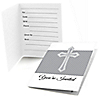 Delicate Blessings Cross - Baptism Fill In Invitations - 8 ct