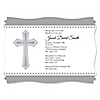 Delicate Blessings Cross - Personalized Baptism Invitations