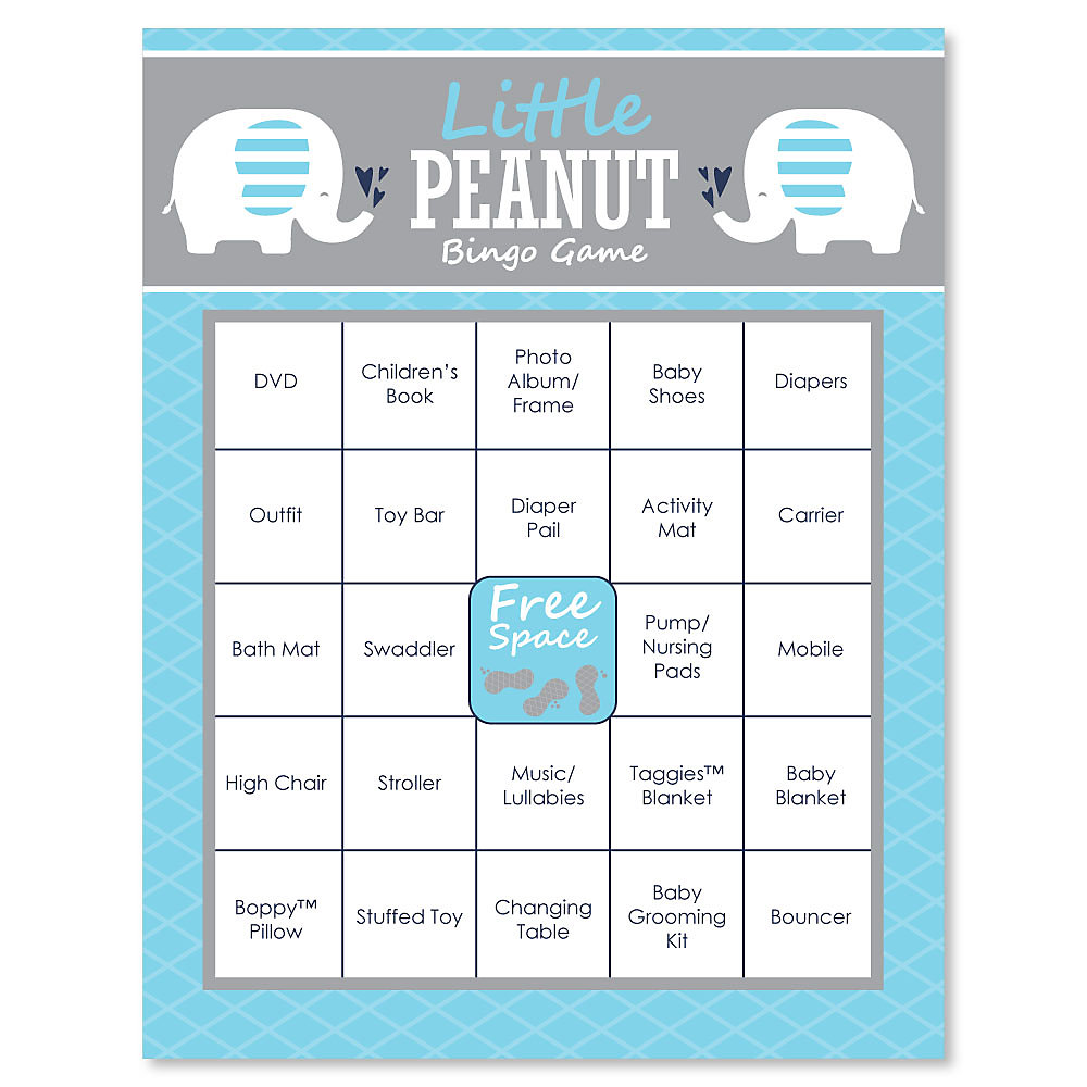 Baby Shower Bingo Cards 16 Count Hover To Zoom