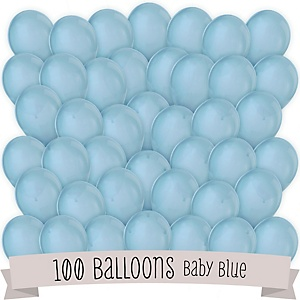 Blue - Party Latex Balloons - 100 ct