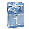 Delicate Blue Cross - Personalized Baptism Favor Boxes