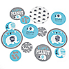 Blue Elephant - Personalized Boy Baby Shower Giant Circle Confetti - Birthday Party Decorations - Large Confetti 27 Count