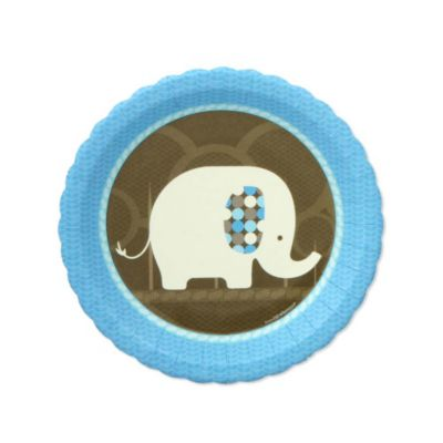 Blue Baby Shower Elephant Theme