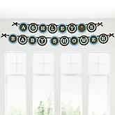 Blue Baby Elephant - Personalized Baby Shower Garland Letter Banners