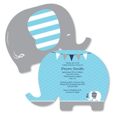 Blue Baby Elephant Baby Shower Theme Bigdotofhappiness Com