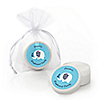 Blue Baby Elephant - Personalized Baby Shower Lip Balm Favors
