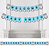 Blue Elephant - Personalized Boy Baby Shower Bunting Banner & Decorations