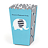 Blue Elephant - Personalized Boy Baby Shower or Birthday Party Popcorn Favor Treat Boxes - Set of 12
