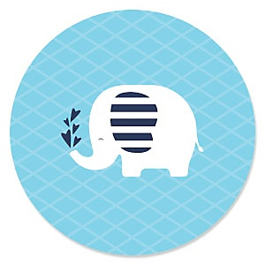 Blue Baby Elephant - Baby Shower Theme