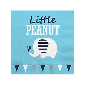 Blue Elephant - Boy Baby Shower or Birthday Party Cocktail Beverage Napkins (16 Count)