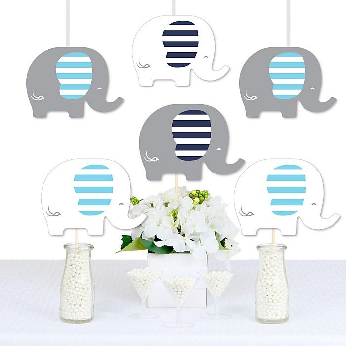 Blue Elephant - Decorations DIY Boy Baby Shower or Birthday Party Essentials - Set of 20