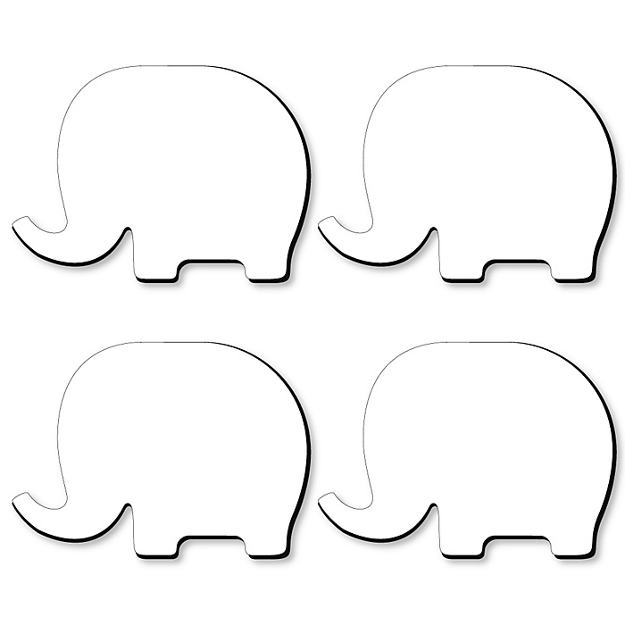 Elephant Foam Board - Shaped DIY Craft Supplies for Resin and Painting - Blank Foam Board - 4 Piece