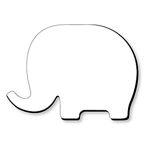 Elephant Foam Board - Shaped DIY Craft Supplies for Resin and Painting - Blank Foam Board - 1 Piece