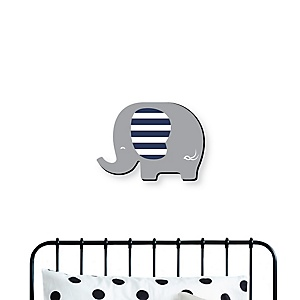 Blue Elephant - Baby Boy Nursery and Kids Room Home Decorations - Shaped Wall Art - 1 Piece