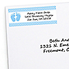 Baby Feet Blue - Personalized Baby Shower Return Address Labels - 30 ct