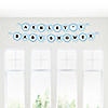 Baby Feet Blue - Personalized Baby Shower Garland Letter Banners