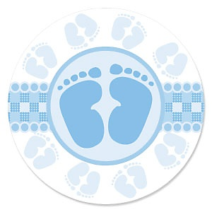 Baby Feet Blue - Baby Shower Theme