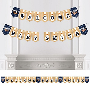 Strike Up the Fun - Bowling - Personalized Baby Shower or Birthday Party Bunting Banner & Decorations