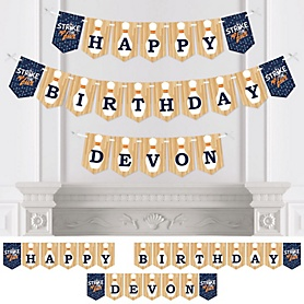 Strike Up the Fun - Bowling - Personalized  Birthday Party Bunting Banner & Decorations