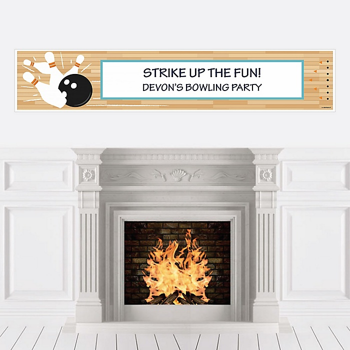 Strike Up the Fun - Bowling - Personalized Baby Shower or Birthday Party Banner