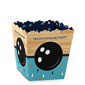 Strike Up the Fun - Bowling - Party Mini Favor Boxes - Personalized Baby Shower or Birthday Party Treat Candy Boxes - Set of 12