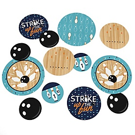Strike Up the Fun - Bowling - Baby Shower or Birthday Party Giant Circle Confetti - Party Decorations - Large Confetti 27 Count