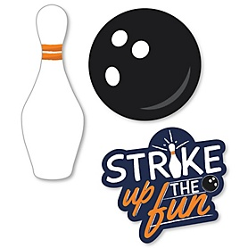 Strike Up the Fun - Bowling - DIY Shaped Baby Shower or Birthday Party Cut-Outs - 24 ct