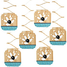 Strike Up the Fun - Bowling - Baby Shower or Birthday Party Hanging Decorations - 6 ct