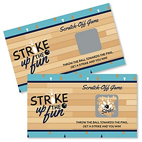 Strike Up the Fun - Bowling - Baby Shower or Birthday Party Scratch Off Cards - 22 Cards