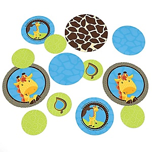 Giraffe Boy - Baby Shower or Birthday Party Table Confetti - 27 ct