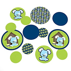 Boy Puppy Dog - Baby Shower or Birthday Party Table Confetti - 27 ct