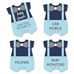 Baby Boy - Blue Baby Shower Game - Can You Picture It Card Game - Set of 24