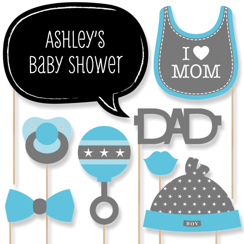 Amazing Baby Boy   Baby Shower Photo Booth Props Kit   20 Props