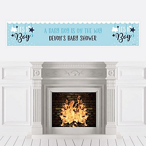 It's a Boy - Personalized Blue Baby Shower Banners