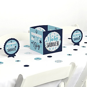 It's a Boy - Blue Baby Shower Centerpiece and Table Decoration Kit