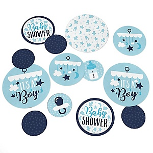 It's a Boy - Blue Baby Shower Giant Circle Confetti - Baby Shower Decorations - Large Confetti 27 Count