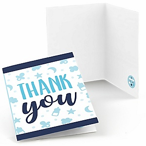 It's a Boy - Blue Baby Shower Thank You Cards - 8 ct