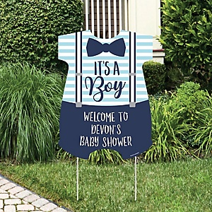 It's a Boy - Party Decorations - Blue Baby Shower Personalized Welcome Yard Sign