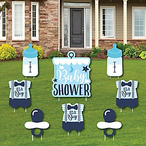 It's a Boy - Yard Sign & Outdoor Lawn Decorations - Blue Baby Shower Yard Signs - Set of 8