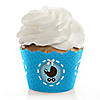 Boy Baby Carriage - Baby Shower Cupcake Wrappers & Decorations