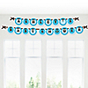 Boy Baby Carriage - Personalized Baby Shower Garland Letter Banners
